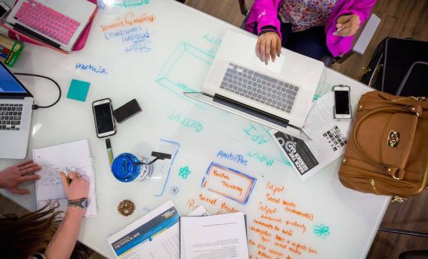 Creativity at work @WVU. Photo by MediaShift.org.